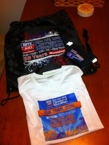 Gear bag, racing belt and Official Blogger Racing Shirt!
