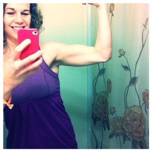 Arm progress-thank you kettle bells & yoga!