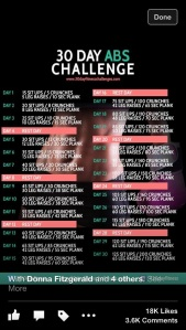 June's 30 Day Ab Challenge