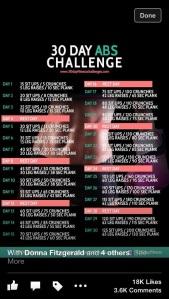 June's 30 Day Ab Challenge