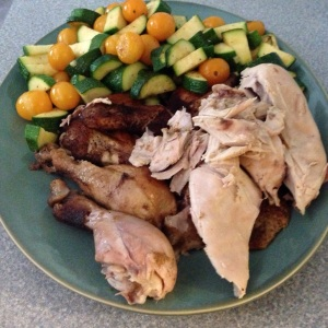 100 Days of Real Food Crockpot Chicken & Sauteed Summer Veggies - stressbuster foods!