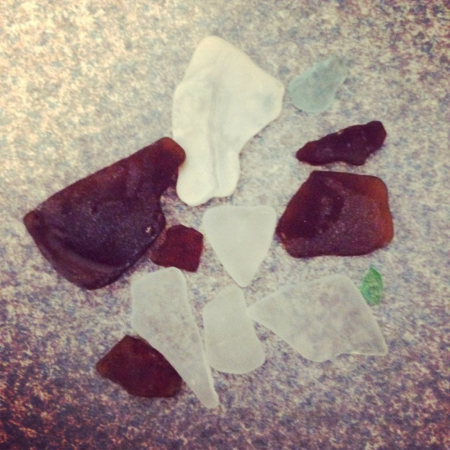 Beach glass from the Lake Erie shores - we treasure hunt through the sand to find it